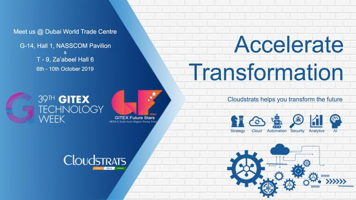 Cloudstrats part of the NASSCOM delegation to showcase its solutions in Dubai at GITEX Technology Week 2019