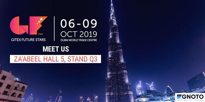 Egnoto Attending GITEX Future Stars 2019 on 6-9 October