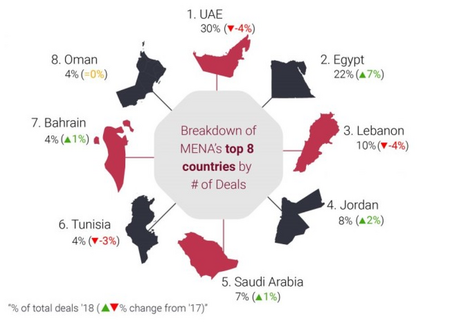 2018 record year for MENA startup investment, UAE, Egypt top destination with 30%, 22%: MAGNiTT