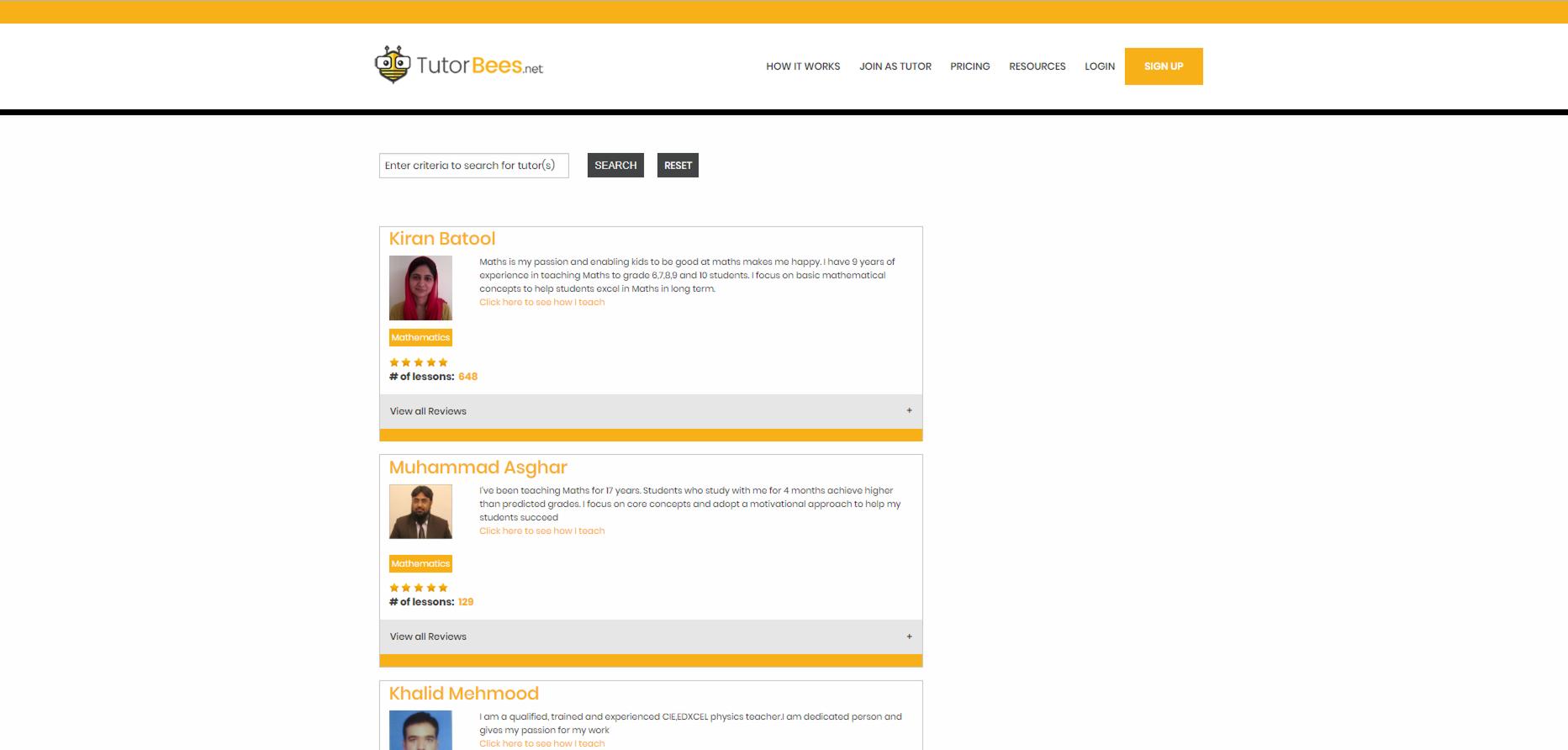 www.tutorbees.net