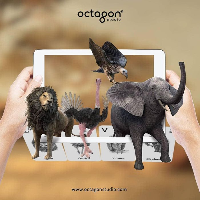 Augmented Reality in Nursery Education & SCHOOLS - ANIMAL 4D+