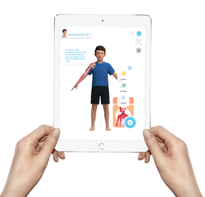 Augmented Reality in Nursery Education & SCHOOLS - HUMANOID 4D+