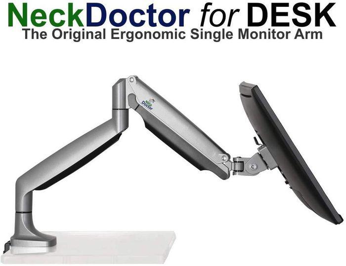 NeckDoctor for DESK -  The Original Ergonomic Gas Spring Single Monitor Arm Stand  for 13