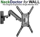 NeckDoctor for WALL -  The Original Ergonomic Gas Spring  TV and Monitor Arm wall Mount  for 23