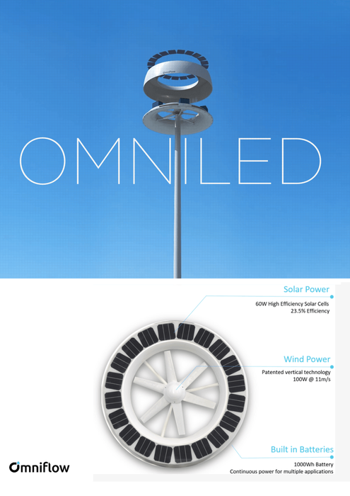 Carbon Neutral Smart IoT Pole - Omniled