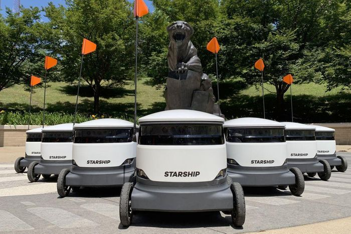 Food delivery robots help beat the lockdown