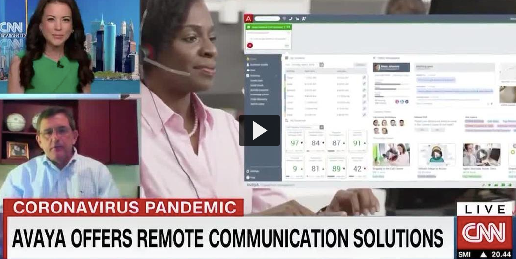 Avaya on CNN: Supporting Customers During COVID-19