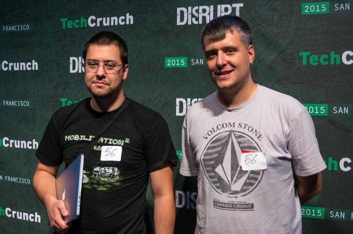 Mike and Peter Tuszynski from iFM @ Disrupt SF Hackaton
