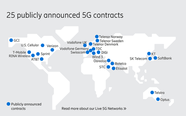 Publicly announced 5G contracts