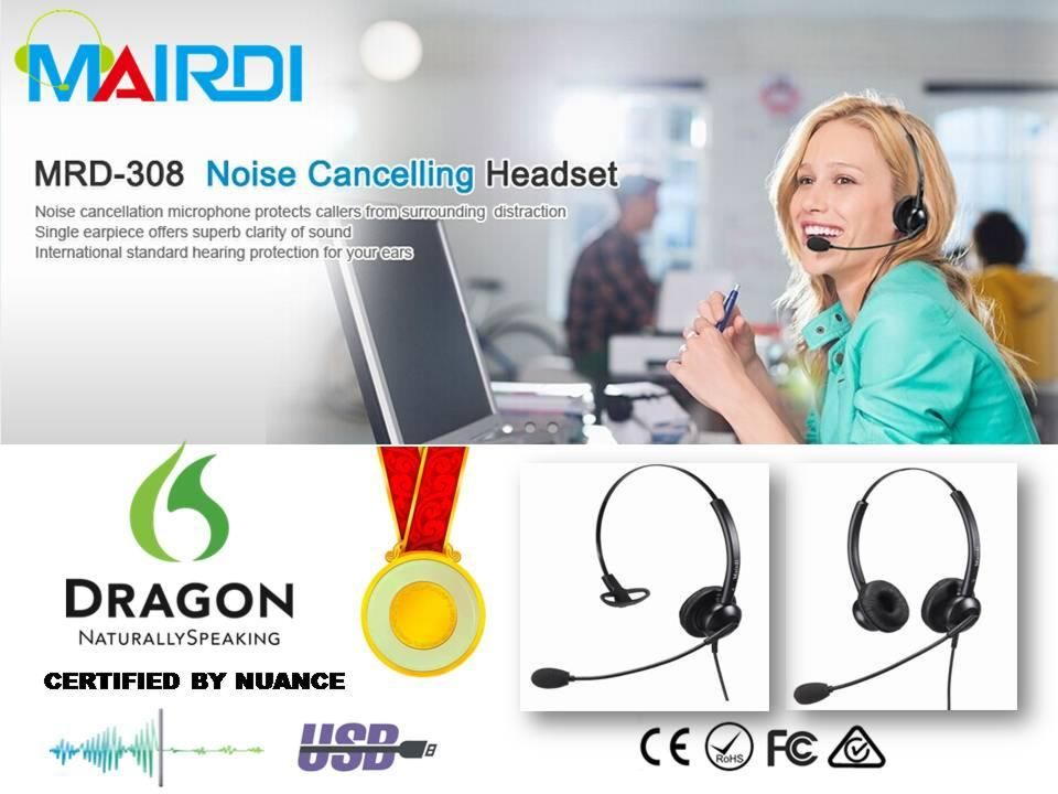 MRD-308S entry level noise cancelling call center headsets