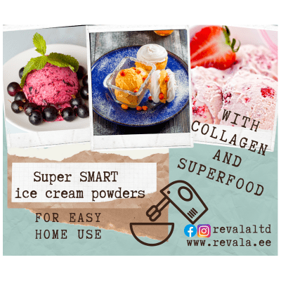 Smart Ice Cream Powder Blackcurrant With Probiotics And Superfood