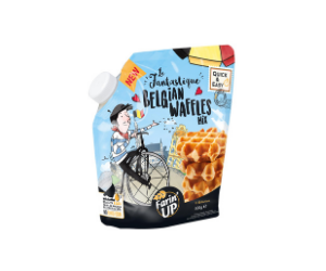 Belgian Waffles Mix In Innovative Reusable Packaging