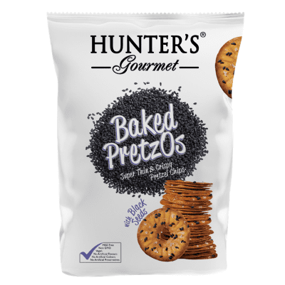 Hunter's Gourmet Baked Pretzos With Black Seeds