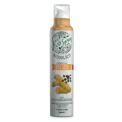 Organic Spray Turmeric and Black Pepper Infused Extra Virgin Olive Oil