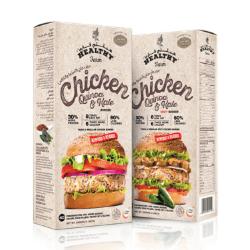 Healthy Farm Chicken, Quinoa and Kale with Salicornia Burger