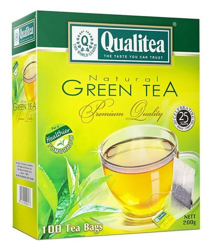 Qualitea 2g x 100 Natural Green Tea With String & Tag