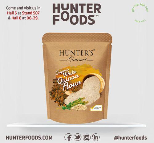 Hunter's Gourmet Organic White Quinoa Flour (300gm)