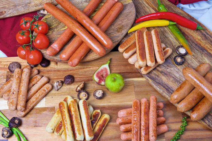 Sausage, Cold Cuts, Burger, portion meat cuts & other processed foods