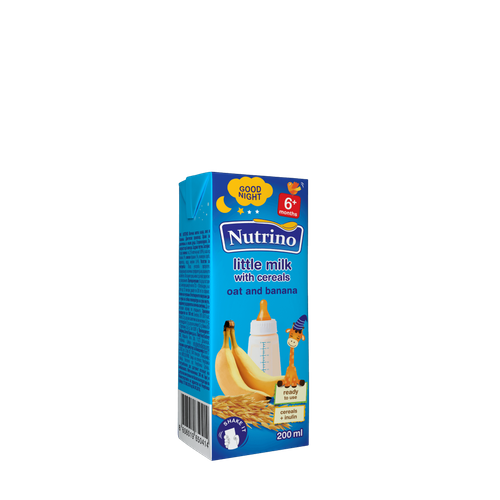 Nutrino little milk with cereals - oat and banana