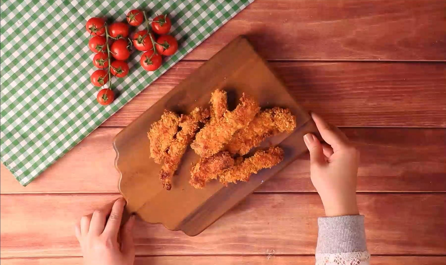 Best oven baked chicken strips recipe with oven french fries