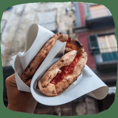 Fried & folded pizza by Pulcinella