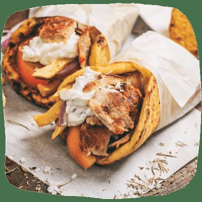 Chicken pita gyro by Elia