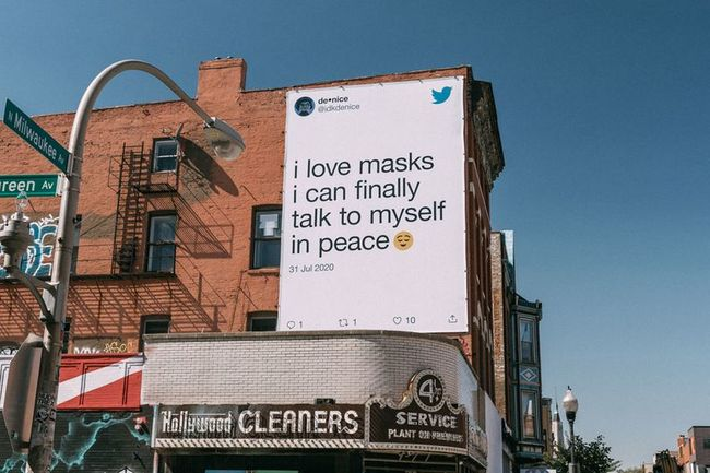 TWITTER PUTS USERS' MASK TWEETS ON BOATS, BILLBOARDS AND SIDEWALKS IN PANDEMIC SAFETY CAMPAIGN
