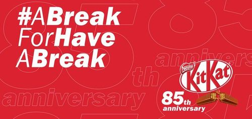 KitKat gives its slogan a break for its 85th anniversary