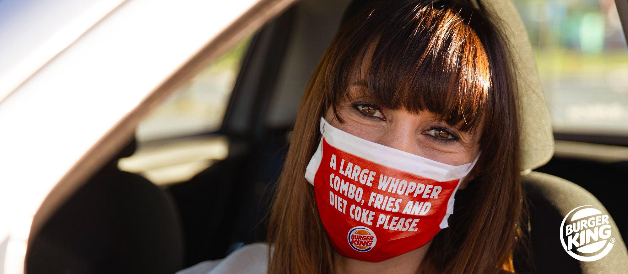 Burger King prints orders on face masks so customers don't even have to speak