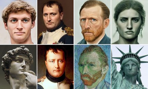 Lifelike Portraits of Famous Historical Figures