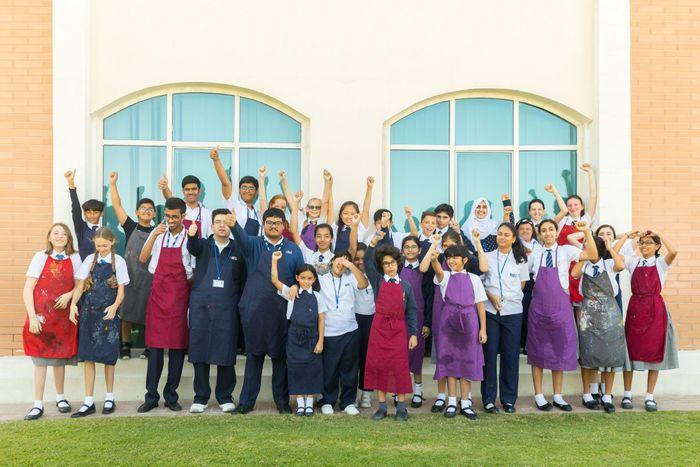 Manzil & Repton School Dubai Collaborate On Sustainable Art Project