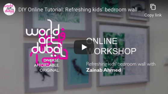 Refreshing kids' bedroom wall with Zainab