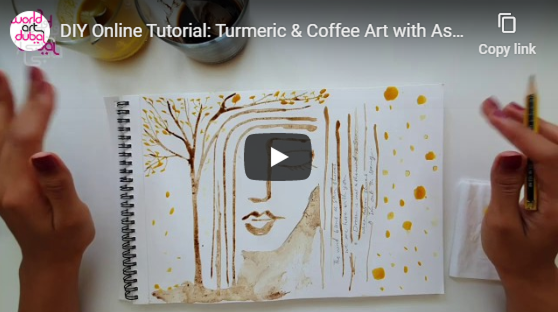 Turmeric & Coffee Art with Asareh