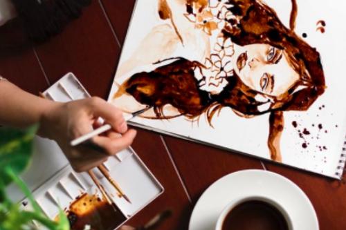 Live Coffee Painting