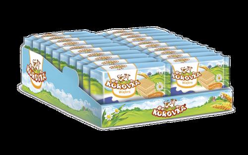 Wafers KOROVKA baked milk taste display 150g
