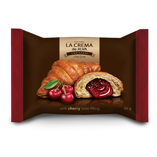 Croissant with cherry filling