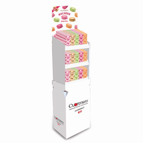 3 Macarons case collection new edition - Floor stand display