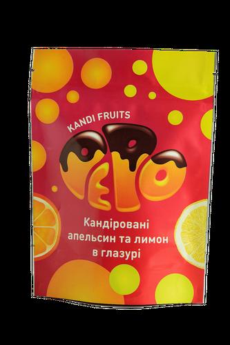 Glazed orange and lemon