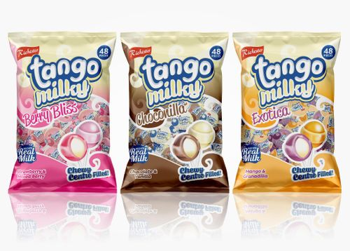 Tango Milky Centre Filled Lollipops