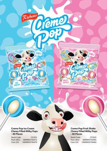 Creme Pop - centre filled mini lollipops
