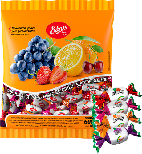 Assorted Fruits Filled Candies
