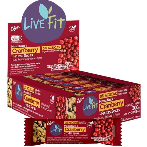 Nuts Mixed Bars (Cranberry + Dry Fruits) Sugar Free - 25g