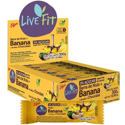 Banana With Chocolate Bar - Sugar Free Bars 25g