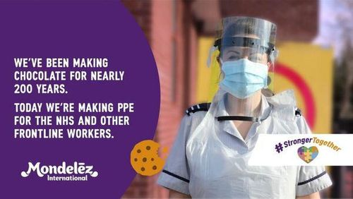 Mondelēz International uses 3D chocolate-making technology to create medical visors for NHS and frontline staff