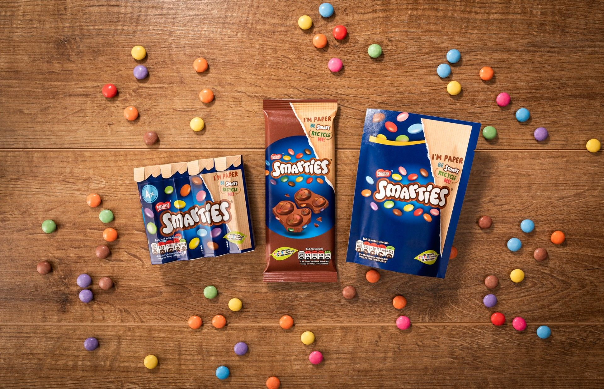Nestlé Australia uses recyclable paper packaging for Smarties