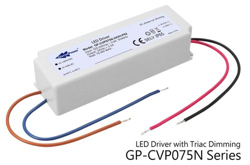 GP-CVP075N Series LED Constant Voltage Driver with TRIAC Dimming
