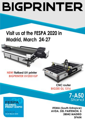 BIGPRINTER will take part in the next FESPA-2020 exhibition