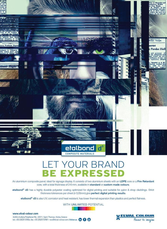 Elval Colour exhibits etalbond® for signage, display and digital printing, in FESPA Global Print Expo 2021