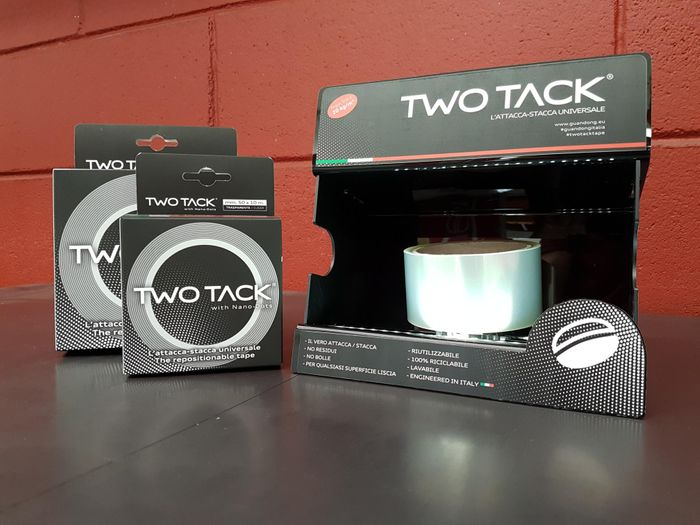 Two Tack®: the only double-sided tape with Nano-Dots