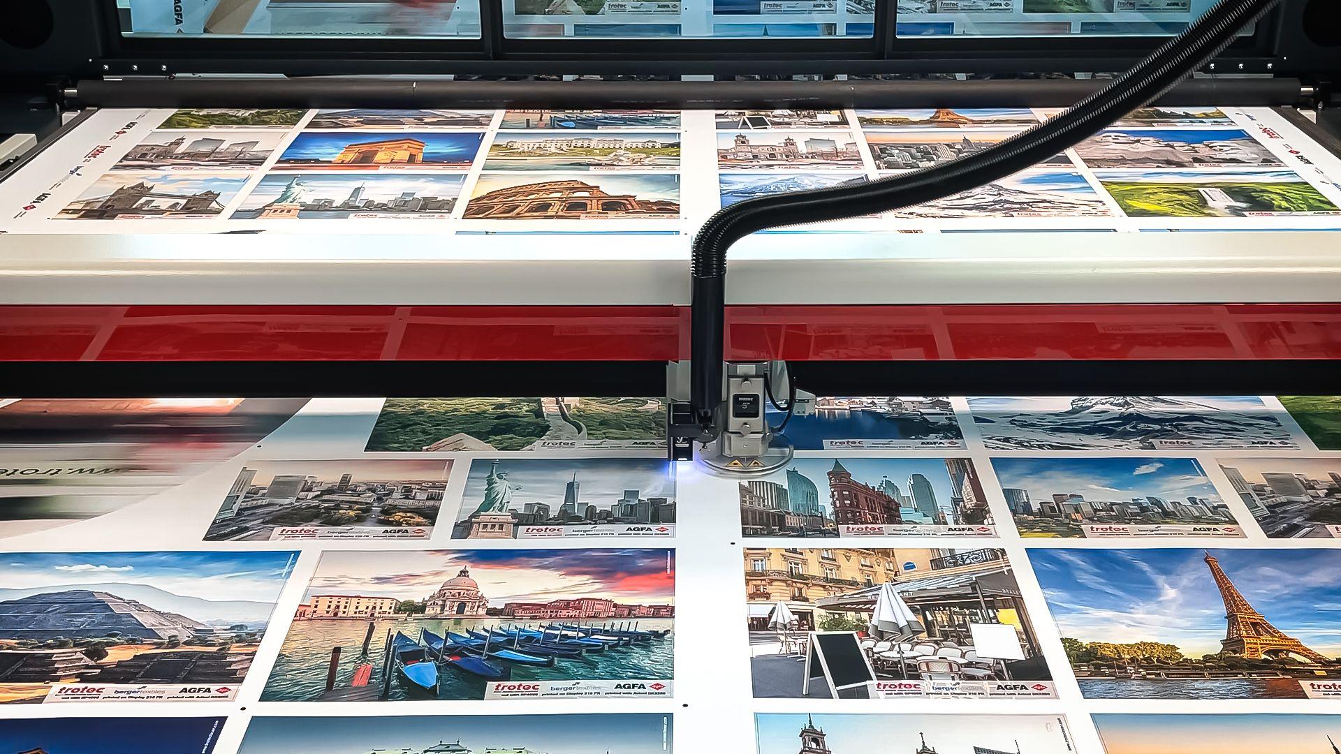 SP4000: Large Format Laser Cutter for Soft Signage Applications